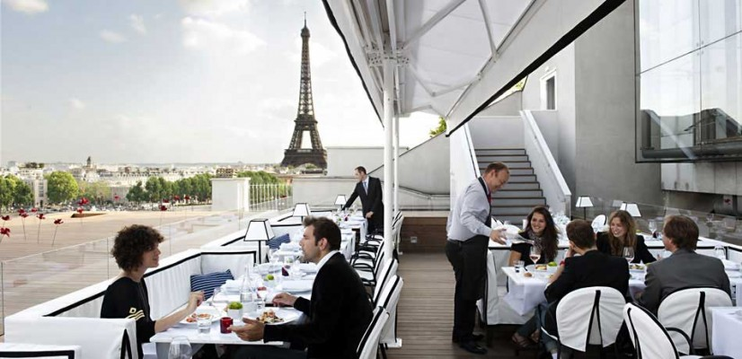 maison blanche le restaurant avec vue sur les toits de paris blog chicbook. Black Bedroom Furniture Sets. Home Design Ideas